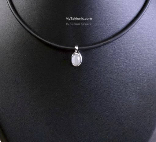 perla takionic in castone d'argento 925 + perla light